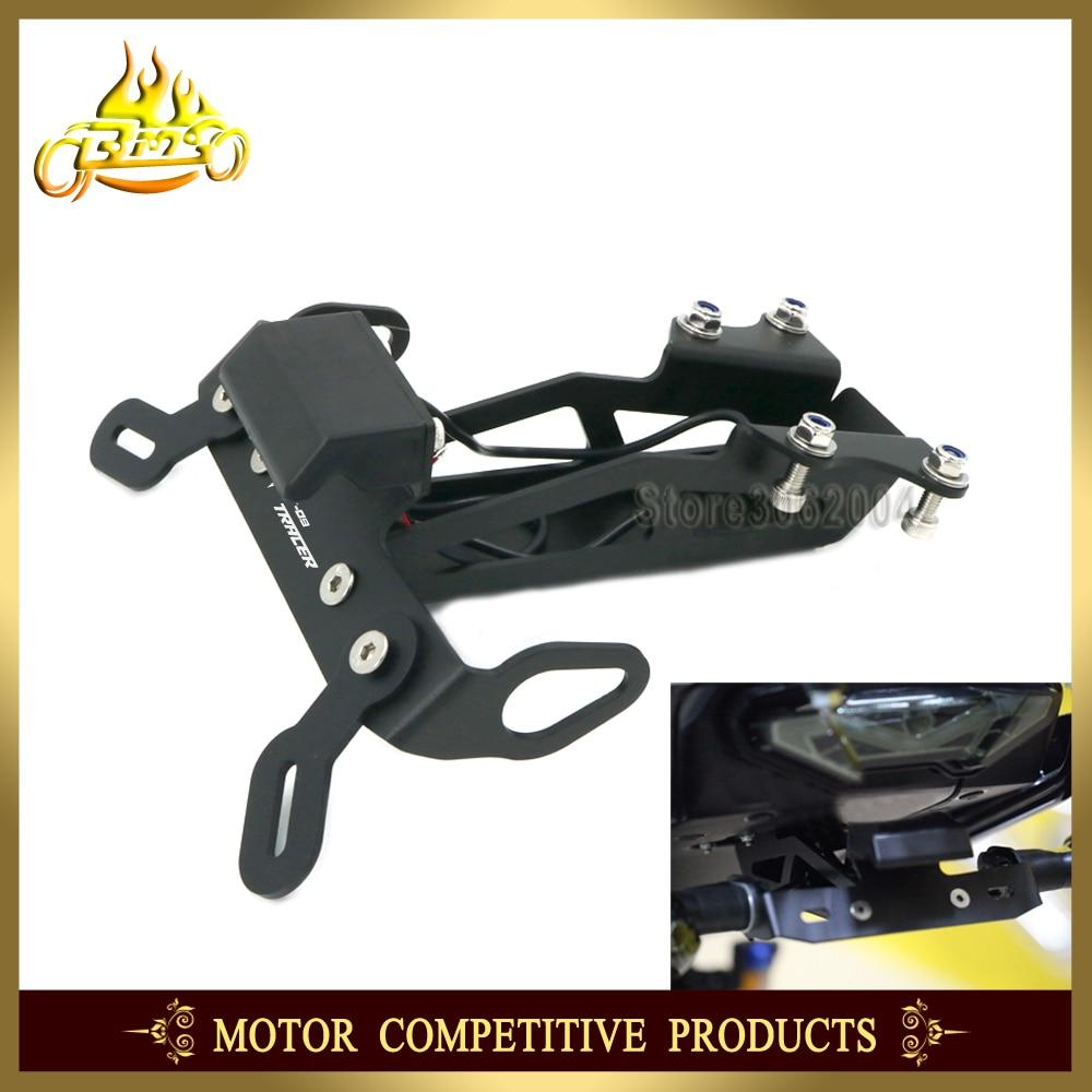 Registration License Plate Holder Bracket LED Motorcycle Accessories For YAMAHA MT09 MT 09 MT 09 Tracer