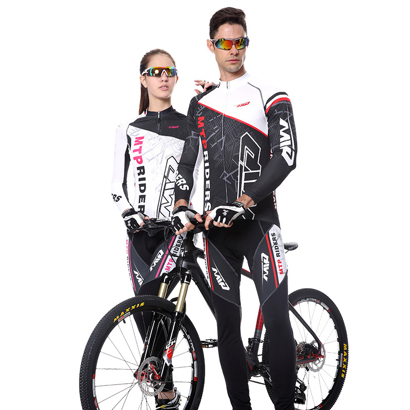 2017 Spring&Autumn Long Sleeve Man&Woman Quick Dry UV Protect Bike Cycling Riding Jerseys Suits MTB Mountain Bike Clothing Sets dichski outdoor bike coat quick dry mtb riding pants mountain 2017 long sleeve cycling sets suit male autumn winter jersey h233