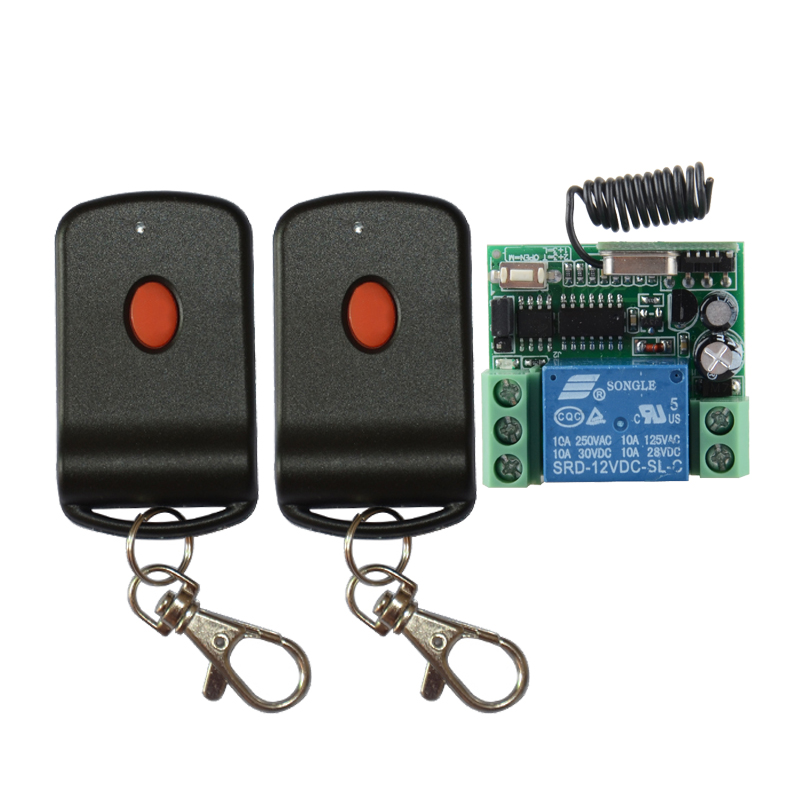 цены  New DC12V 1CH RF Wireless Remote Control Switch System with Red-button Transmitter Smart Home Switch