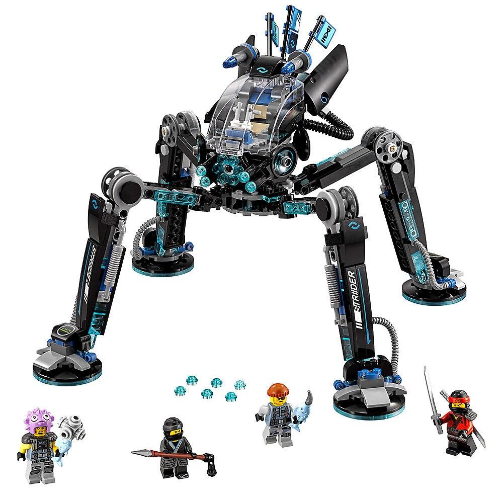 Compatível legoe ninjagoe filme 538 peças blocos de construção brinquedos para crianças tijolos striders água presentes compatibles 70611