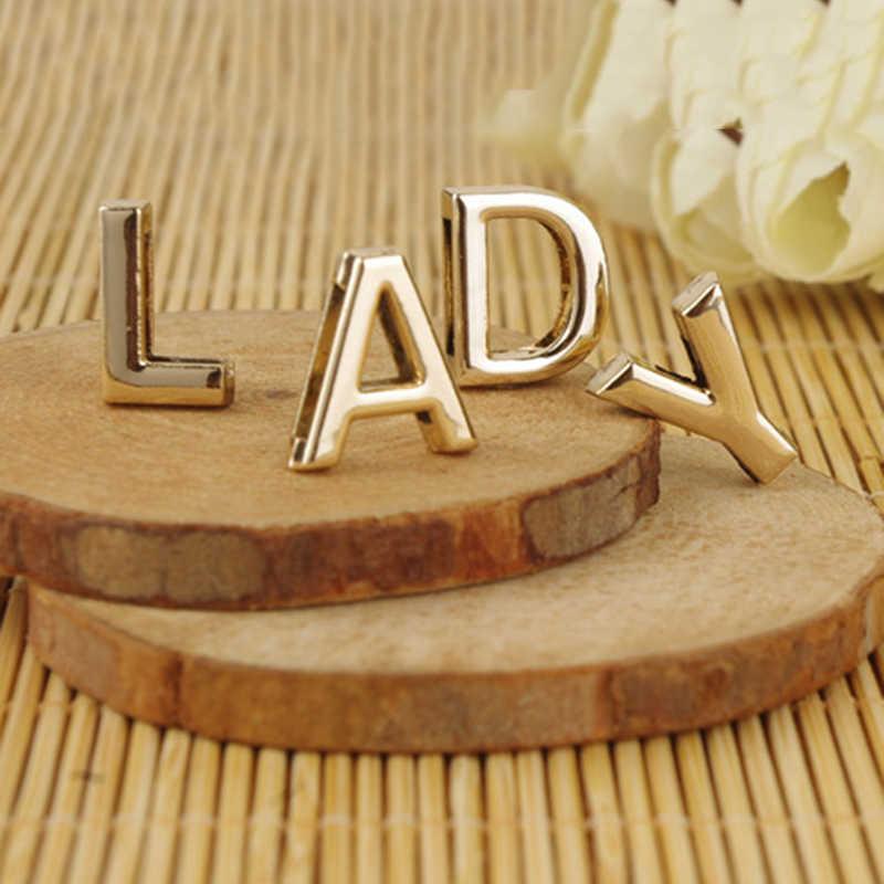 LNRRABC Pulseras de Moda letras inglesas pulseras de mujer joyería de moda para damas accesorios de verano regalos de amigo Color dorado