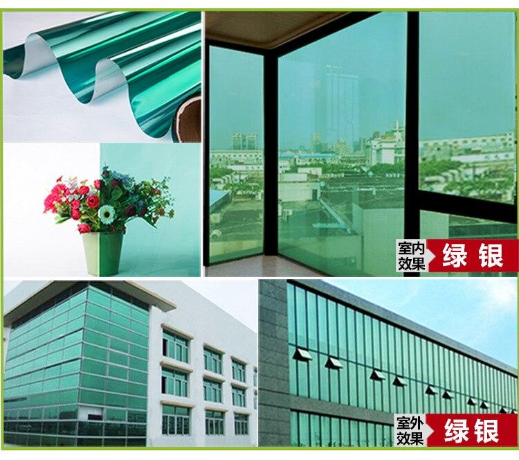 Film de fenêtre solaire Hotsale 75 cm x 15 m auto-adhésif Anti-UV isolation thermique feuille de Film de fenêtre décorative pour la Protection privée
