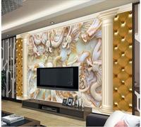 טפט 3d לחדר עמוד רומי ירקן מגולף dragon 3d קיר תמונה רקע סלון טפט טפט בסגנון