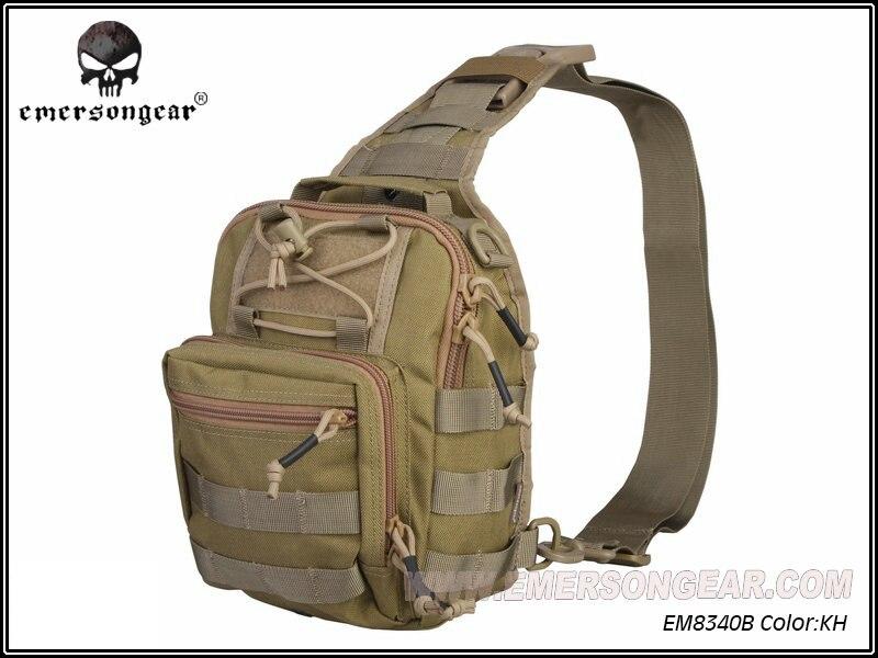 ФОТО Emerson Nylon Molle Rambler Chest Pack Crossbody Sling Single Shoulder Bag Travel Hiking Hunting Accessories EM8340 Khaki ^