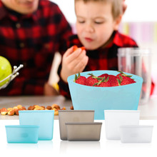 2pcs/3pcs Silicone Food Bags Fresh Bag Reusable Storage Sealed Fruit Household Stand Up Zip Shut Container Sundries Organizer B4