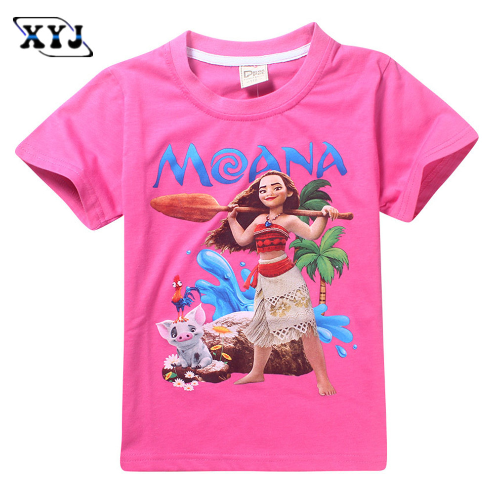 2017 moana t shirts girls new movie costume for baby girls for Girls in t shirts
