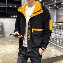2019 เสื้อใหม่ผู้ชายฤดูใบไม้ผลิฤดูใบไม้ร่วงสบายๆซิปเสื้อแจ็คเก็ตเครื่องบินทิ้งระเบิด Streetwear เสื้อกันหนาวเบสบอล Mens Pilot Hooded Jacket