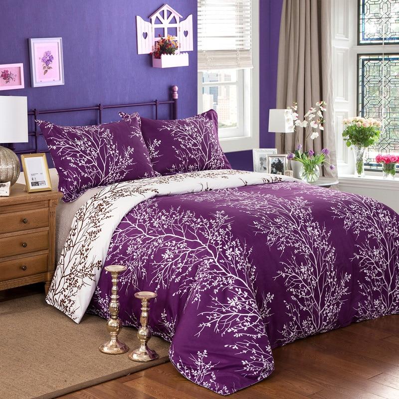 Purple Reactive Peinture Ensemble De Literie Roi Queen Size Housse