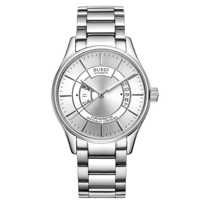british designer watches o8qa  BUREI 5007 Switzerland watches men luxury chronometer officially certified  MIYOTA automatic self-wind silver stainless steel