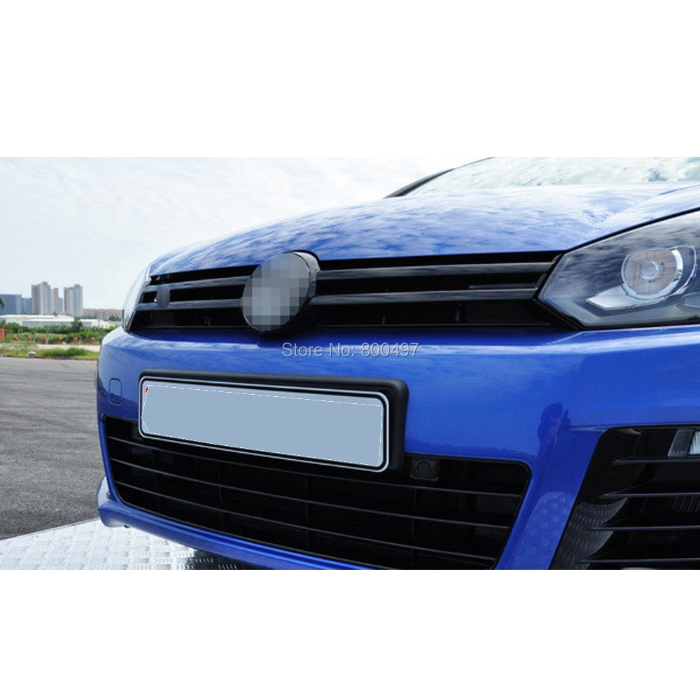 5 X Car Styling Front Grill Stickers Car Accessories Decorative Red Black Blue Decals For Volkswagen VW Golf  6 Jetta Sagitar