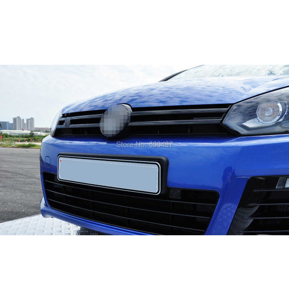5 x voiture style avant gril autocollants voiture accessoires décoratif rouge noir bleu décalcomanies pour Volkswagen VW Golf 6 Jetta Sagitar