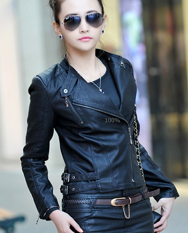 Aliexpress.com : Buy 2017 spring women leather coat outerwear ...