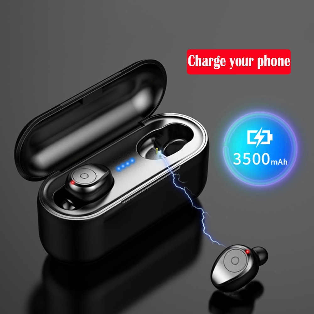 Image 2 - TWS Bluetooth 5.0 Earphones Wireless Earphones for redmi note 4 phone Stereo Earbuds charging with box 3500 mAh Power bank-in Bluetooth Earphones & Headphones from Consumer Electronics