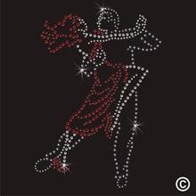 2pc/lot Ballroom Dance Crystal Motif  hot fix rhinestone transfer motifs iron on design applique patch for shirt