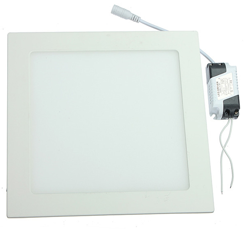 20pcs 25W Square Panel Light Recessced Ceiling Downlight AC85 265V Driver Included