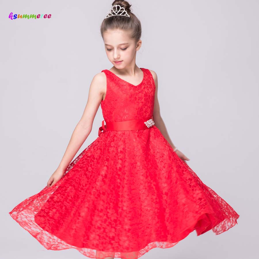 Lace   Flower     Girls     Dress   for Birthday Party Wedding   Dress   Children Princess Clothing Kids Baby Evening Prom Gown   Dress