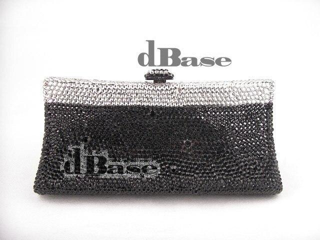 ФОТО 7732-BK BLACK Crystal lady fashion Bridal Party Night Metal Evening purse clutch bag handbag