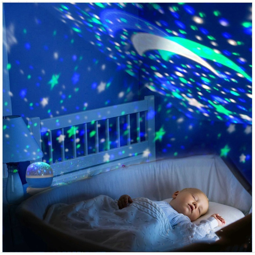 Jiaderui Baby LED Star Rotating Starry Sky Projector Lamp Sky Rotation Colorful Flashing Starry Sky Projector Kid Christmas Gift