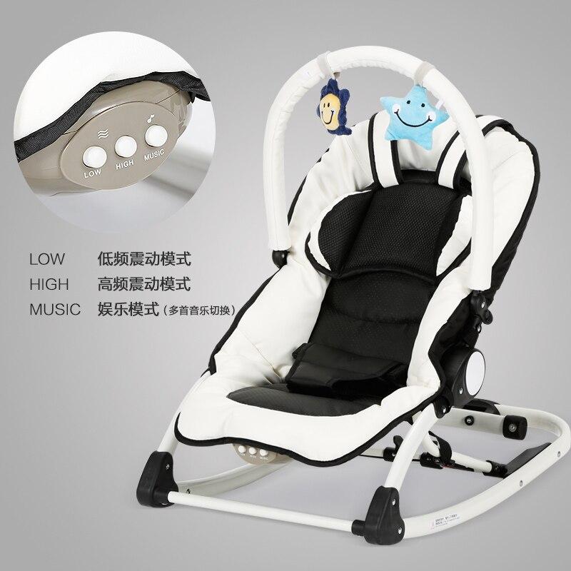 Chbaby bébé chaise à bascule multifonctionnelle électrique musique chaise longue placarders chaise bébé shaker bb enfant berceau