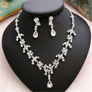 Image 5 - CC Wedding Engagement Jewelry Necklace Earrings Bracelets 2Pcs Sets Bridal Hair Accessories For Cubic Zircon Pearl Charm m011