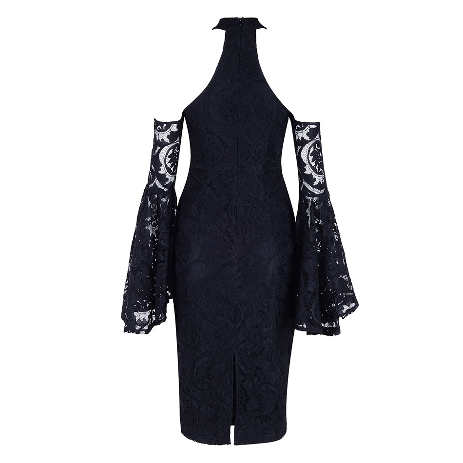Parti Sexy Haute Robes Silm Qualité Longues Femmes Noir 2018 Europe Manches Robe Bb Off épaule gcUyvqSqW