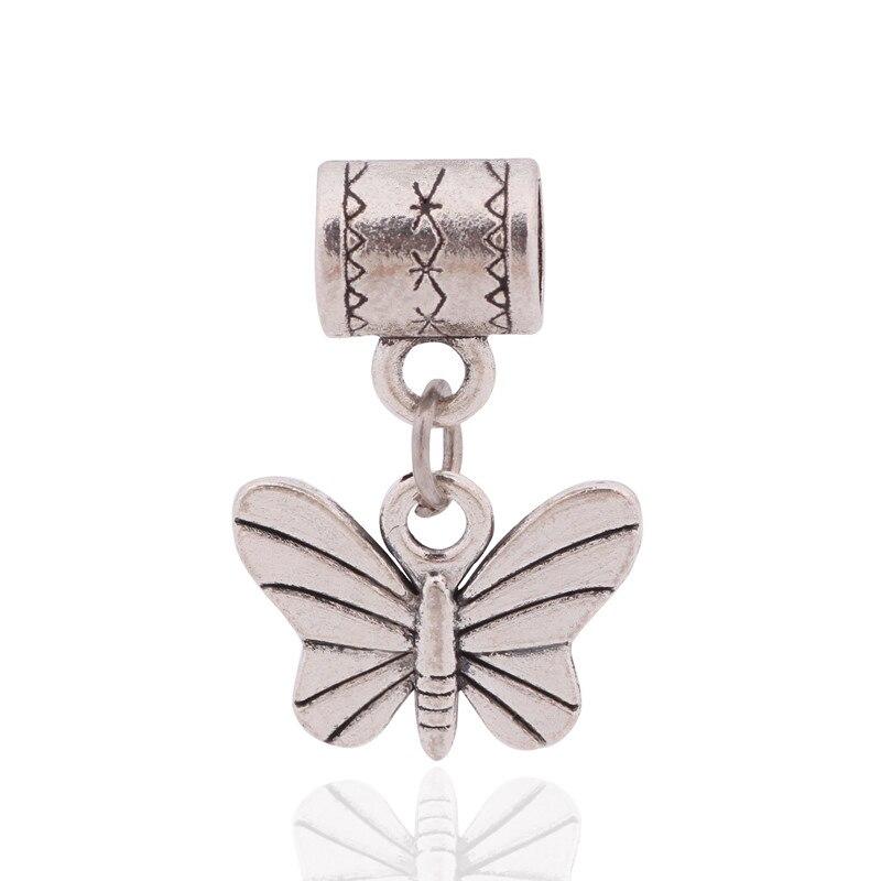 ccf522d957f5 2016 Venta caliente antigua metal mariposa cuelga los granos del encanto  DIY Pandora serpiente cadena pulsera y Collar para mujer joyería