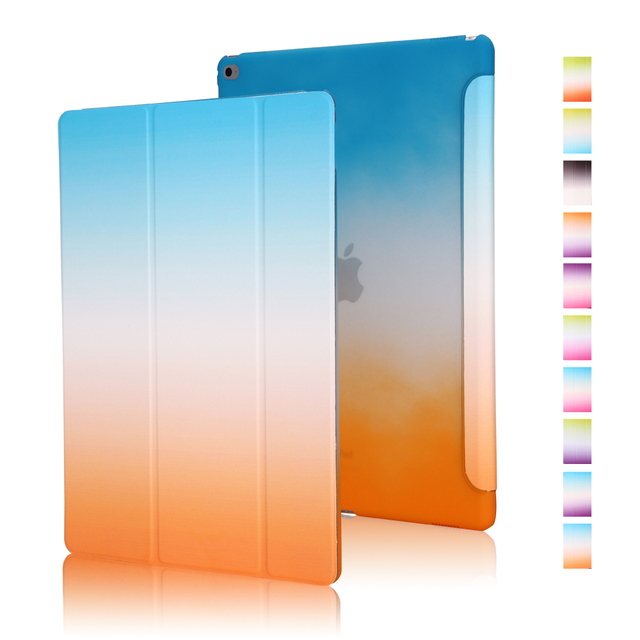 For iPad Pro Tree Folds Rainbow Color Gradual Changing Wake Sleep Smart capa for iPad Pro
