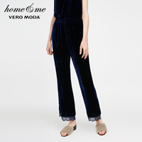 Vero Moda Lace Cuffs Velvet Cropped Lounge Pants|3181P7503