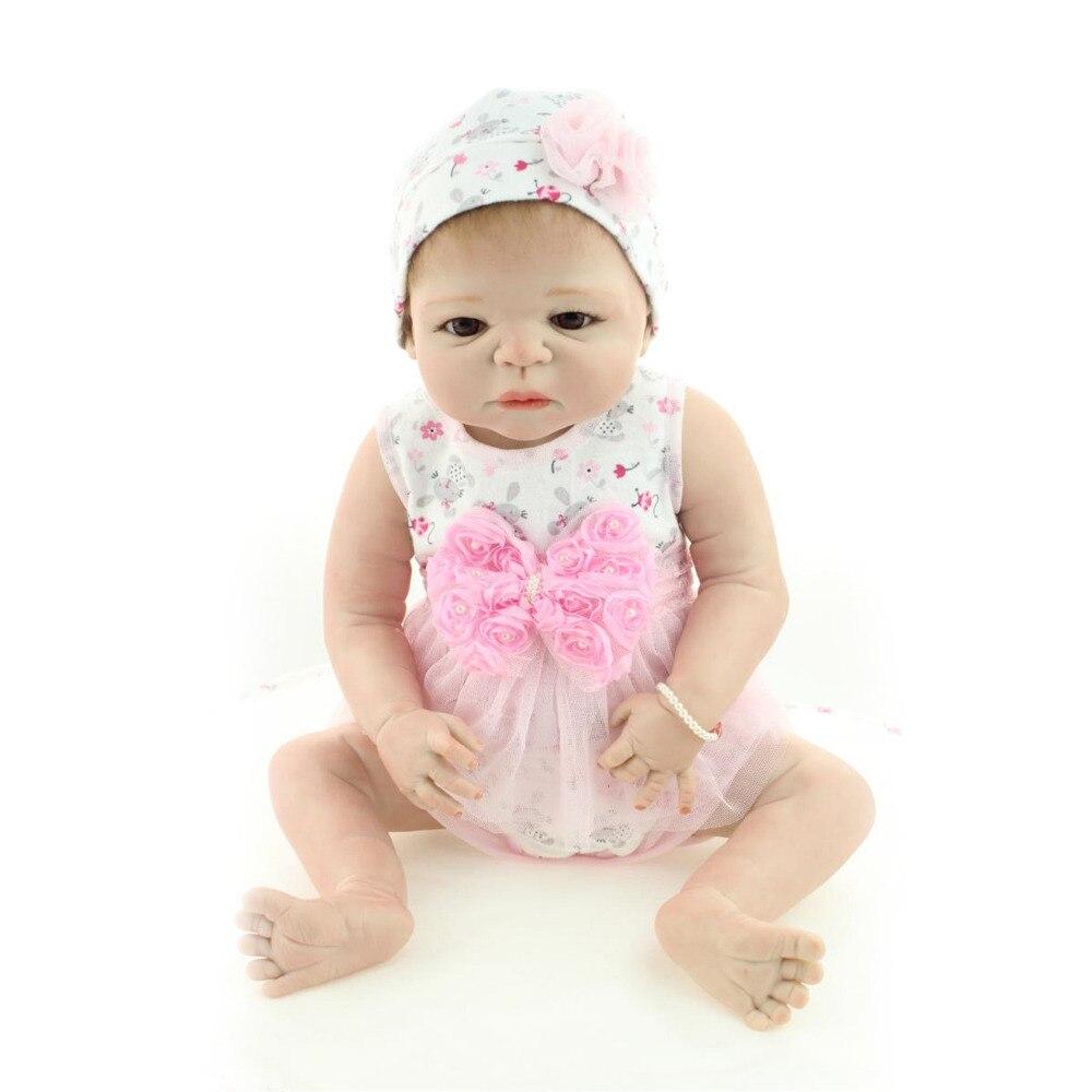 Full body silicone baby for sale 2015 - Full Body Vinyl Soft Toys Lifelike 58 Cm Silicone Reborn Baby Doll 23 Inch Realistic Dolls