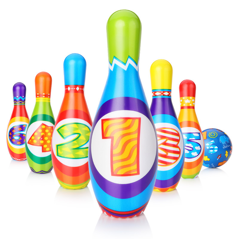 New Outdoor Sports Game Colorful Standard 7 Piece Set 6 Pins 1 Bowling Balls Kid Toys Brinquedo Juguetes Oyuncak
