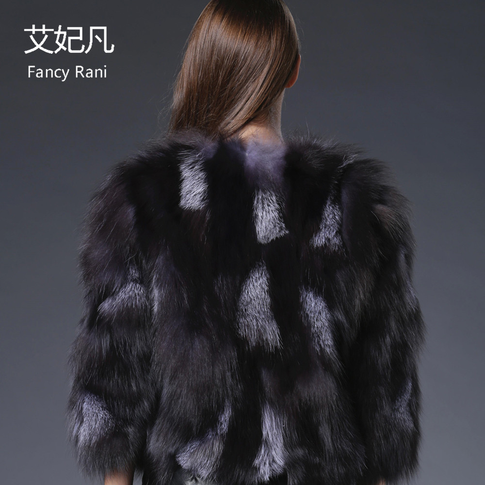 Outwear Winter Fox Frauen New Pelzmantel Kurze Jacke Mode Grau Echte Fox Echt Silber Weste Warme MzpVqUSG