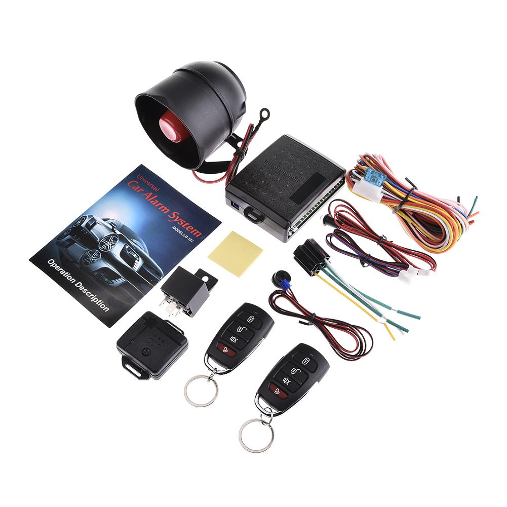 New Universal 1-way Car Alarm Vehicle System Protection Security System Keyless Entry Siren 2 Remote Control Burglar Hot Alarm Systems & Security