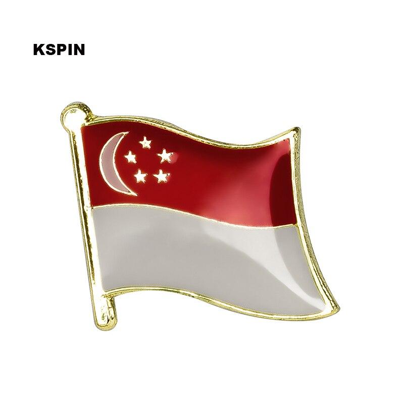 Singapur pin bandera solapa insignia pin broche de iconos de 1PC KS-0192 881 Uds serie de arquitectura Singapur Marina Bay Arena conjuntos de bloques de construcción ladrillos modelo clásico ciudad Skyline juguetes para niños