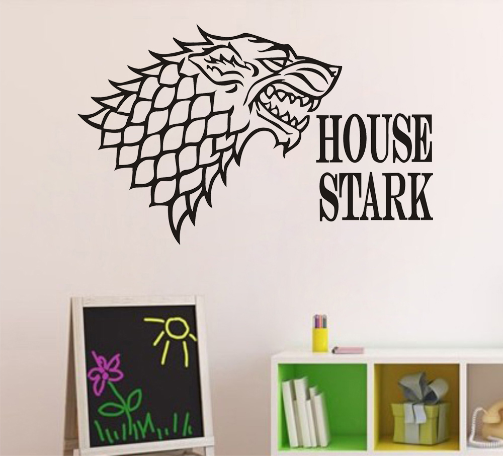 online home decor games jjrui direwolf of thrones wall sticker house stark 11676