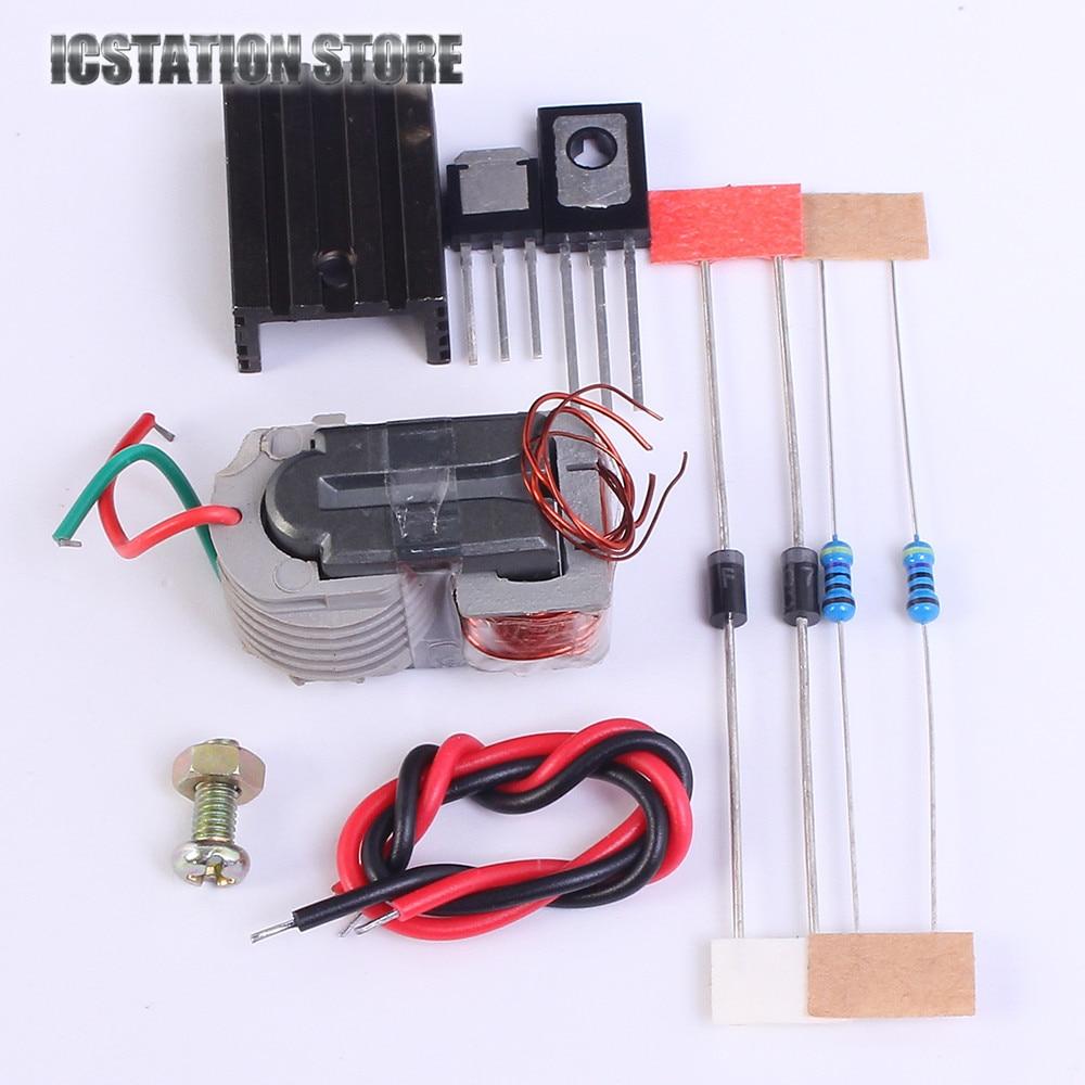 все цены на DIY Kit 15KV Inverter Booster High Voltage Generator Arc Coil Module Step up Module Electronic Suite онлайн