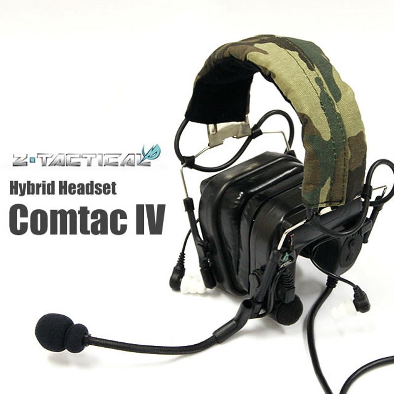 Z-Tactical Comtac IV IN-THE-EAR Headset Military Hunting Wargame Airsoft Tactical Noise Reduction Headphone Z038 Black