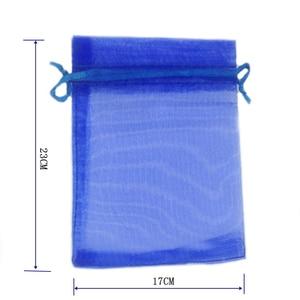 Image 2 - En gros Organza sac 17x23 cm bijoux emballage affichage pochettes mariage noël cadeau sacs bijoux sacs et pochettes 100 pcs/lot