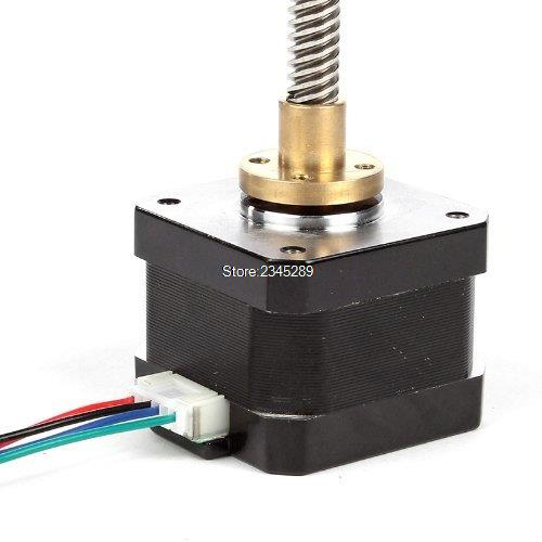 Free shipping New NEMA 17 Lead Screw M8 300mm Z Axis 3D Printer KIT Step Motor