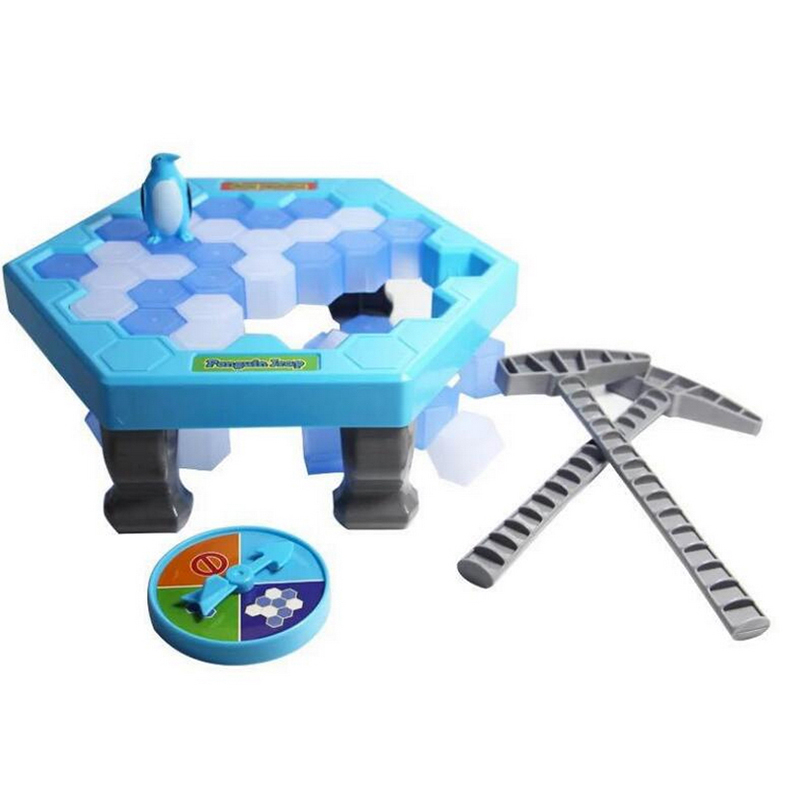Penguin Trap Activate Funny Game Interactive Ice Breaking Table Penguin Trap Entertainment Toy for Kids Family Fun Game penguin trap on ice interactive family game