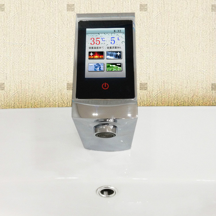 Thermostatic Basin Faucet Touch Screen Temperature And Flow Control ...