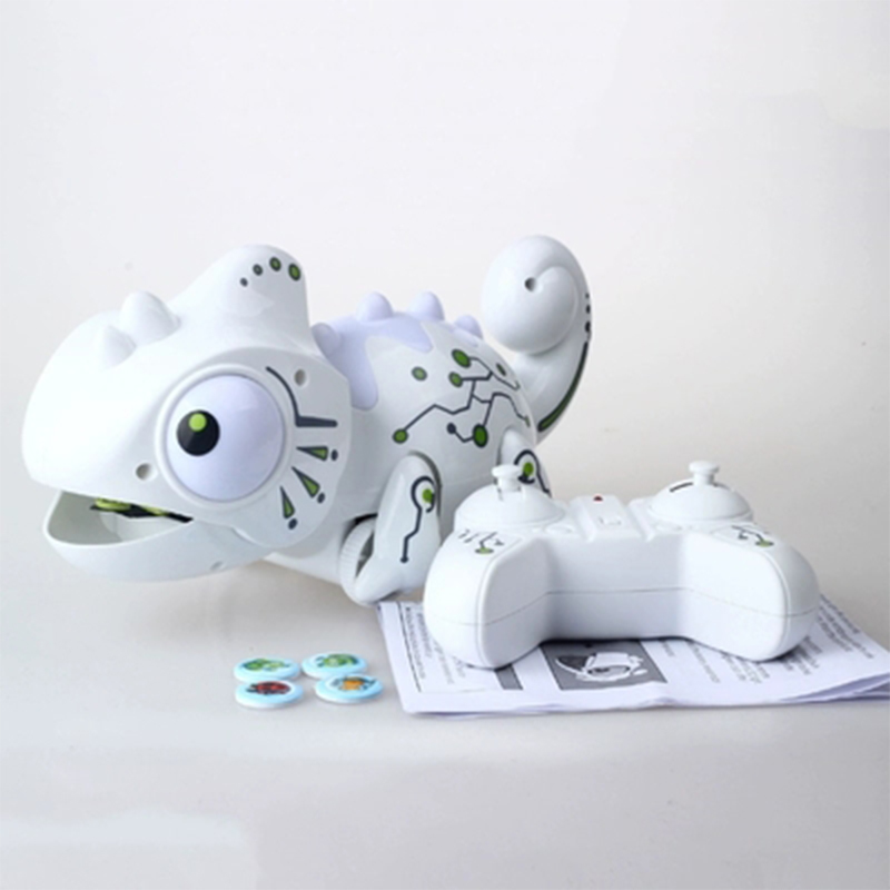 Smart Chameleon Robotic Toys Hungry Lizard Intelligent Electronic Pet Toy Can Eat Things Function Funny Toy Gift for Boys Girls in RC Robots Animals from Toys Hobbies