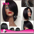 Glueless полные боб парик девы малайзии шелковистая прямая человеческих лучшие волосы парики короткие боб перед парики для чернокожих женщин