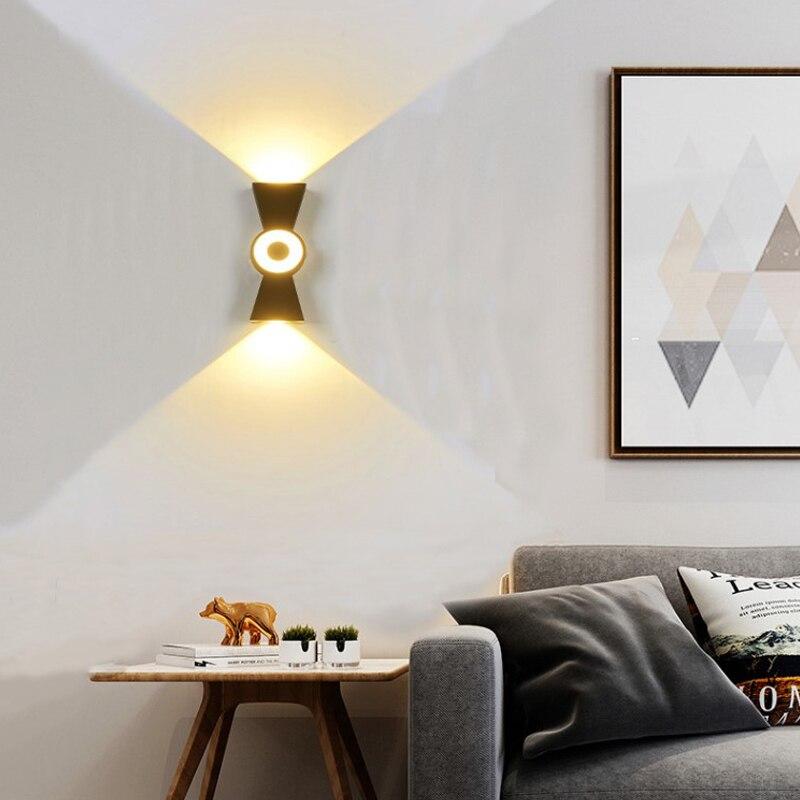 10W Led Wall Lamp Porch Light Fixture Living Room Bedroom Bedside Home Hallway Indoor Outdoor Waterproof Decoration Wall Lights