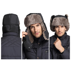 Image 4 - Winter Warm Earflap Bomber Hat Caps for Men Women Russian Thermal Trapper Hat Trooper Snowboard Skiing with Fack Cover Windproof