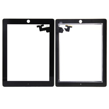 "For ipad 2 Front Touch Screen Digitizer Glass Lens Panel Repair For iPad 2 2nd Gen A1395 A1396 A1397 9.7"" Tablet Touch panel"