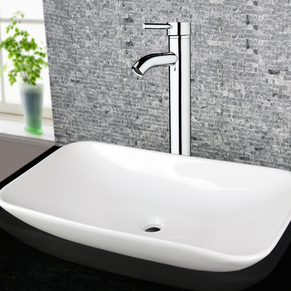 Bathroom Accessories Basin Faucets Modern Chrome Waterfall Basin Mixer Bathroom Faucets Hot and Cold Water Tap