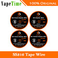 Original 10ft GeekVape Clapton SS316 Tape Wire DIY Friendly High Quality Wire about 3M Length electronic cigarette from Geekvape