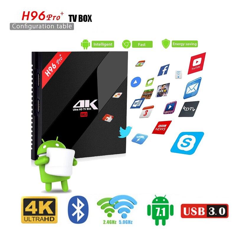 H96 PRO Plus TV Box Amlogic S912 Octa Mali T820MP3 GPU 2G 16G 3G 32G Android