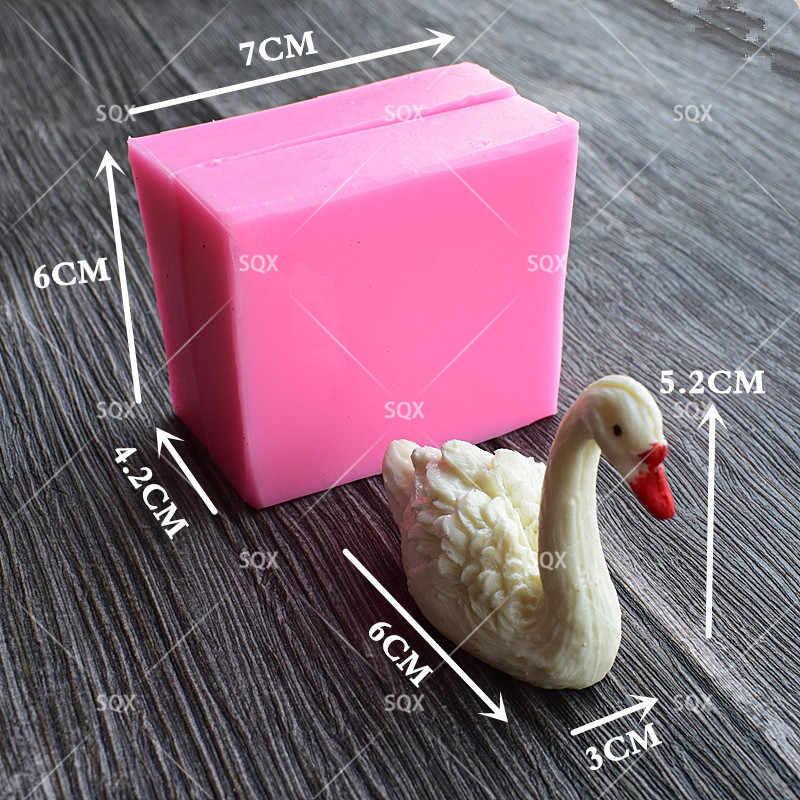 Molde de silicona 3D para fondant de cisne Belupai