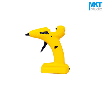 1Pcs Yellow 8W Electric Thermo Heating Hot Melt Adhesive Glue Gun Pistol Puller For 7mm Glue Stick, Use 4xAA Dry Battery
